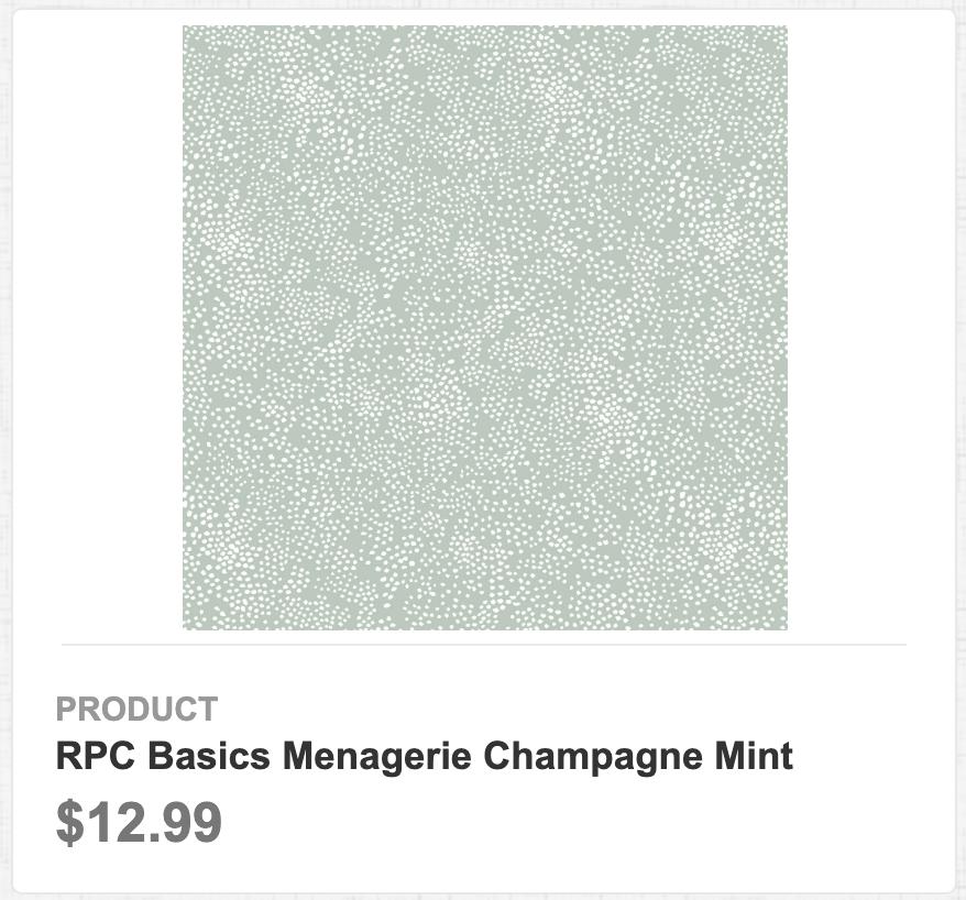 RPC Basics Menagerie Champagne Mint