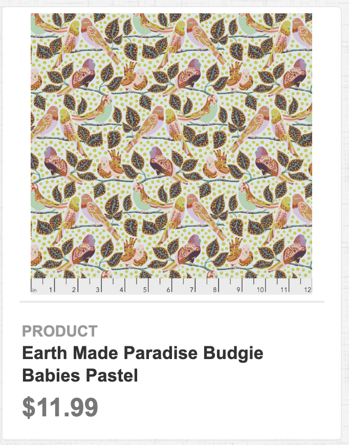 Earth Made Paradise Budgie Babies Pastel