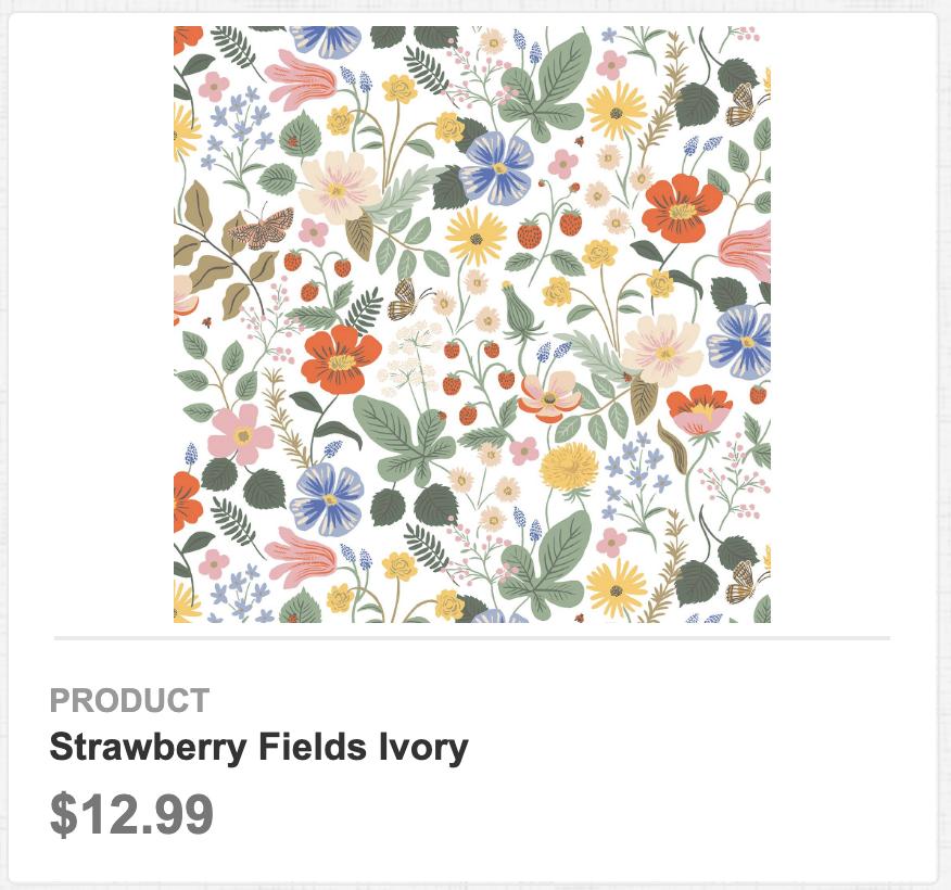Strawberry Fields Ivory