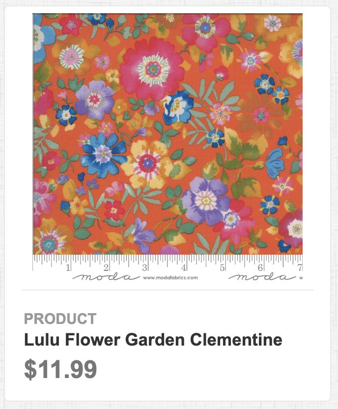 Lulu Flower Garden Clementine
