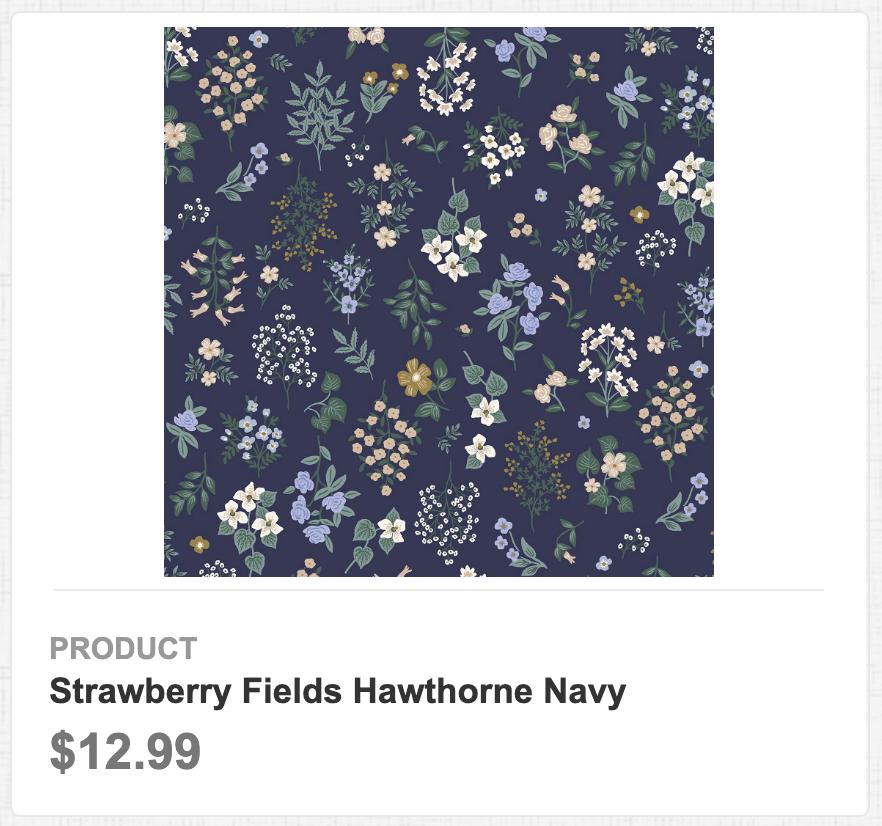 Strawberry Fields Hawthorne Navy