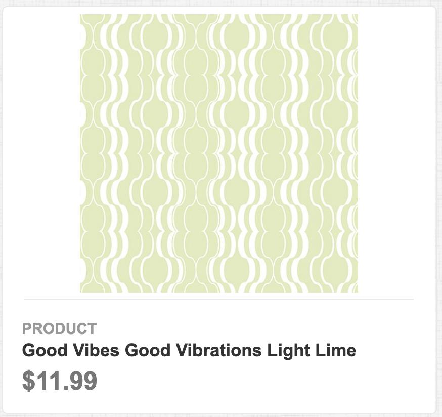Good Vibes Good Vibrations Light Lime