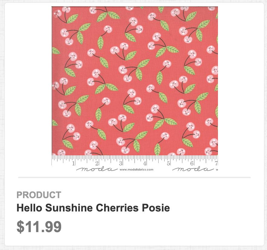 Hello Sunshine Cherries Posie