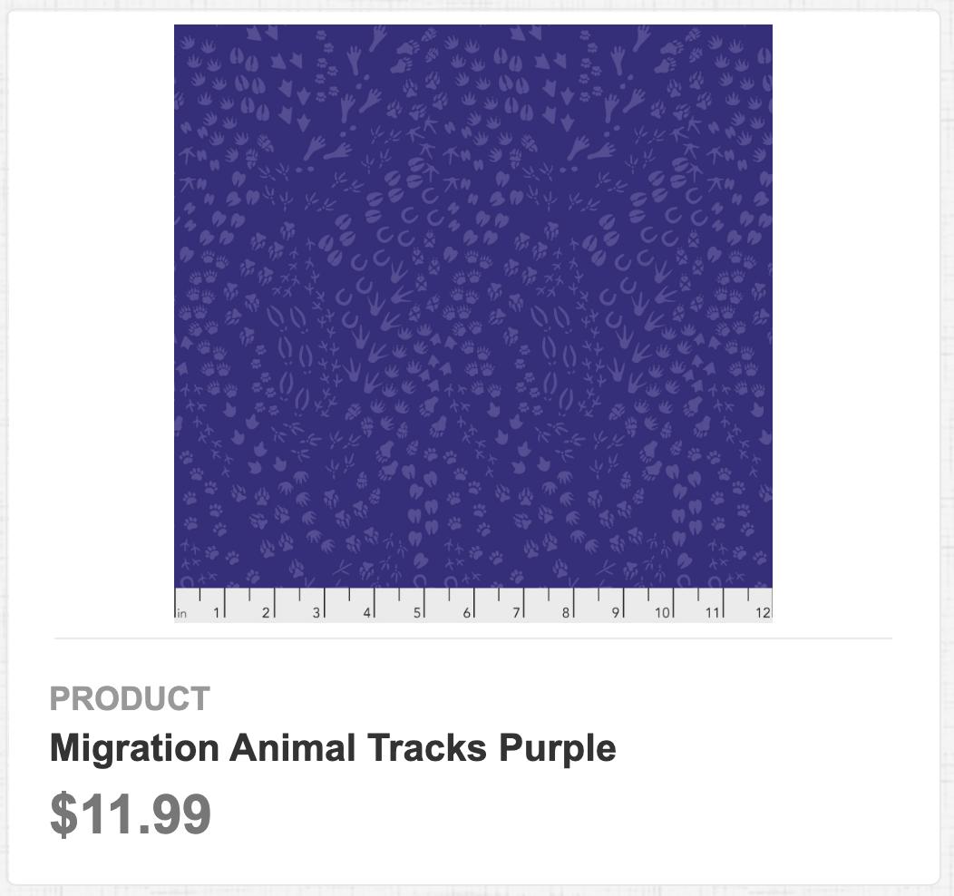 Migration Animal Tracks Purple