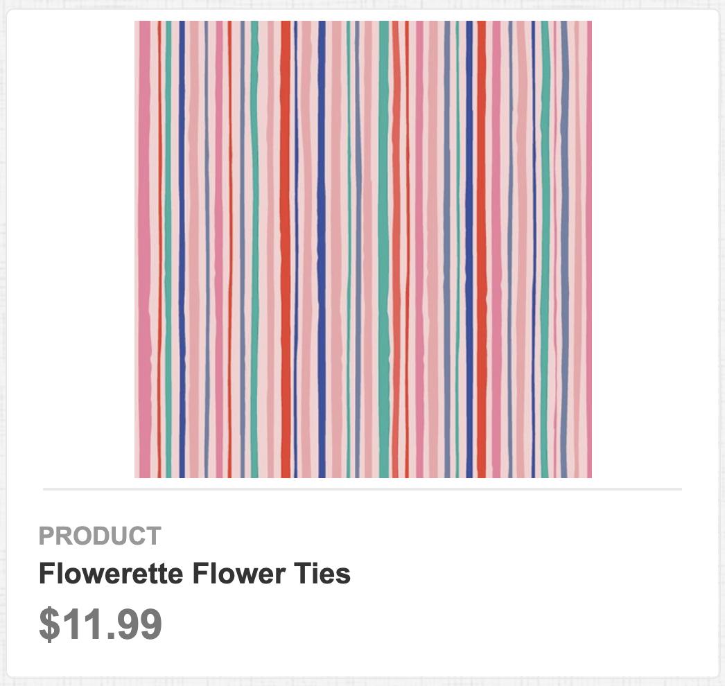 Flowerette Flower Ties