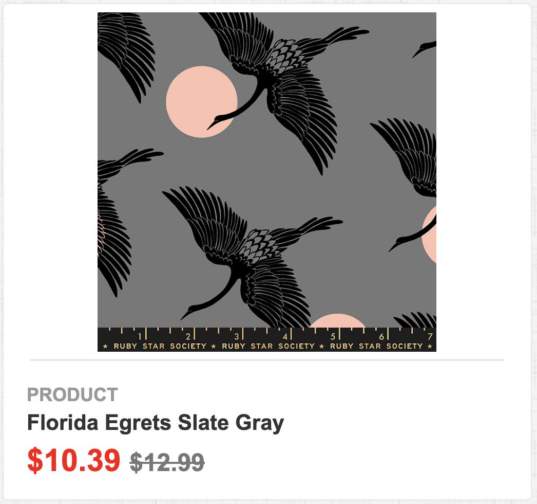 Florida Egrets Slate Gray