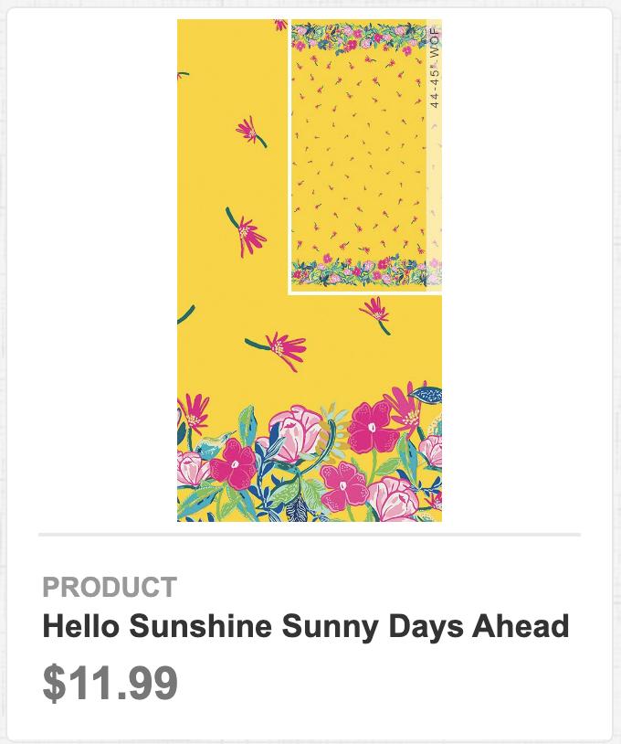 Hello Sunshine Sunny Days Ahead