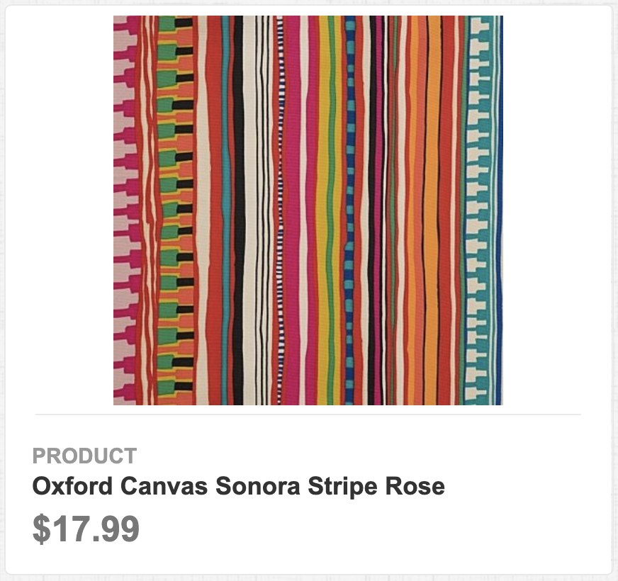 Oxford Canvas Sonora Stripe Rose