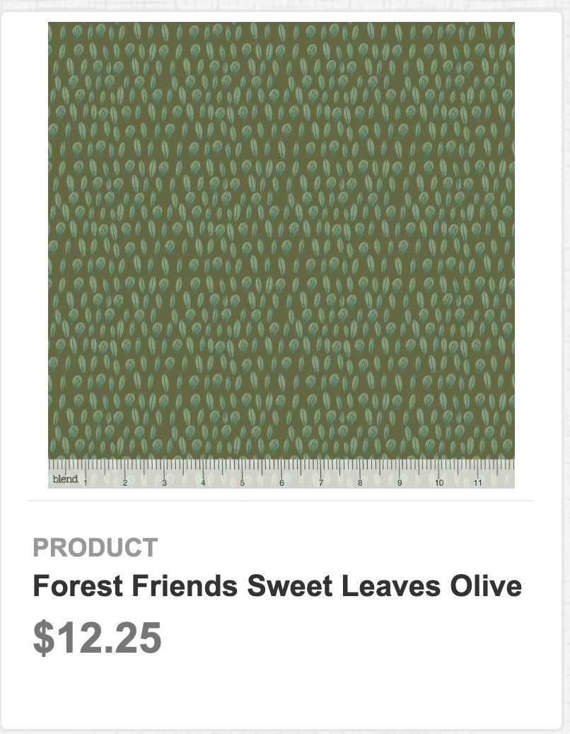 Forest Friends Sweet Leaves Olive
