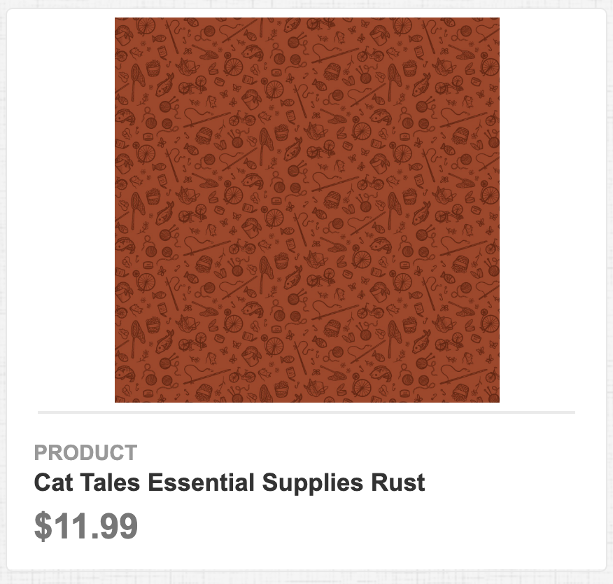 Cat Tales Essential Supplies Rust