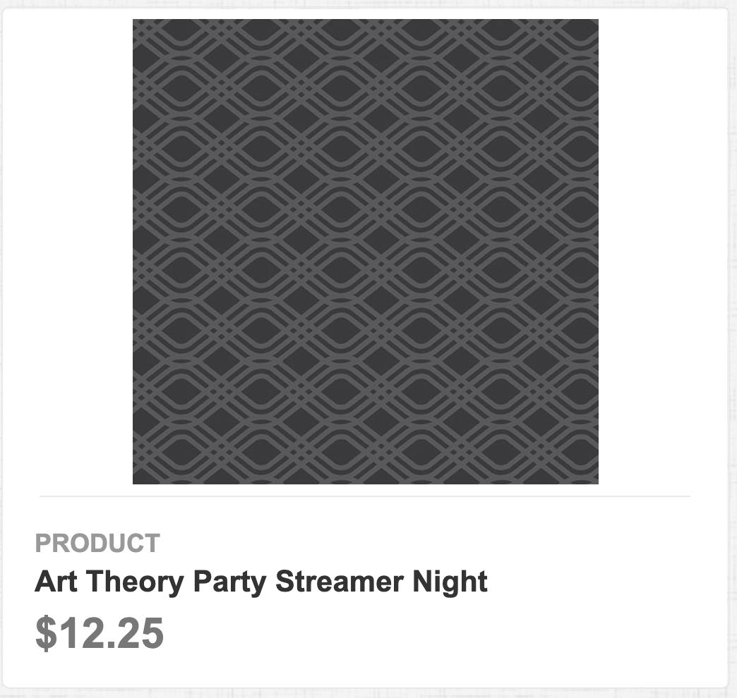 Art Theory Party Streamer Night