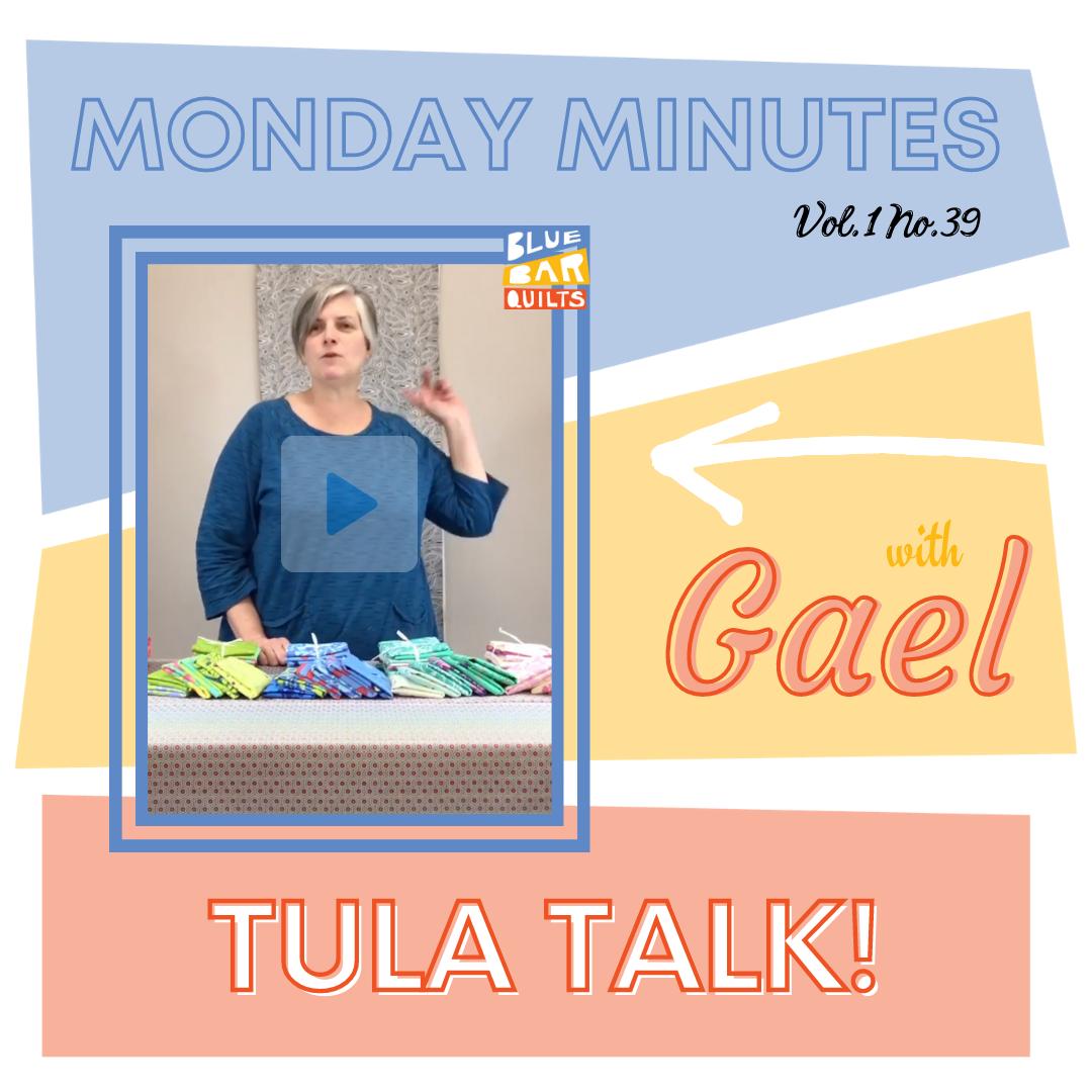 Monday Minutes with Gael Boyd of Blue Bar Quilts Vol 1 No. 39 Tula Talk!