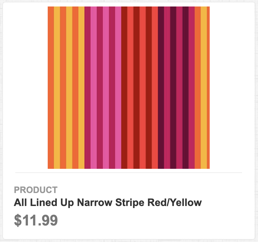 All Lined Up Narrow Stripe Red/Yellow