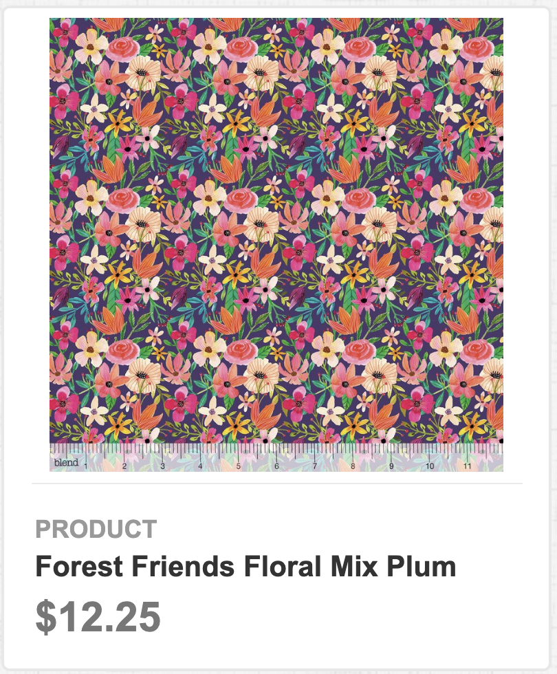 Forest Friends Floral Mix Plum