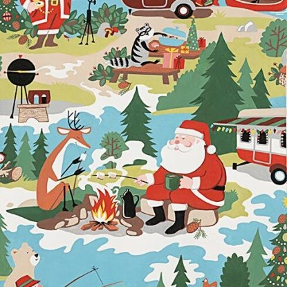 Santa Goes Glamping Multi Bright