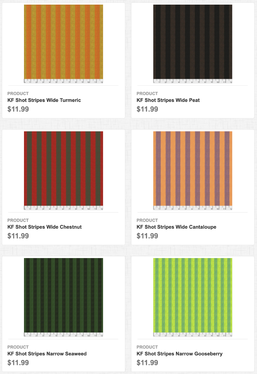 KF Shot Cottons: Stripes Wide and Narrow