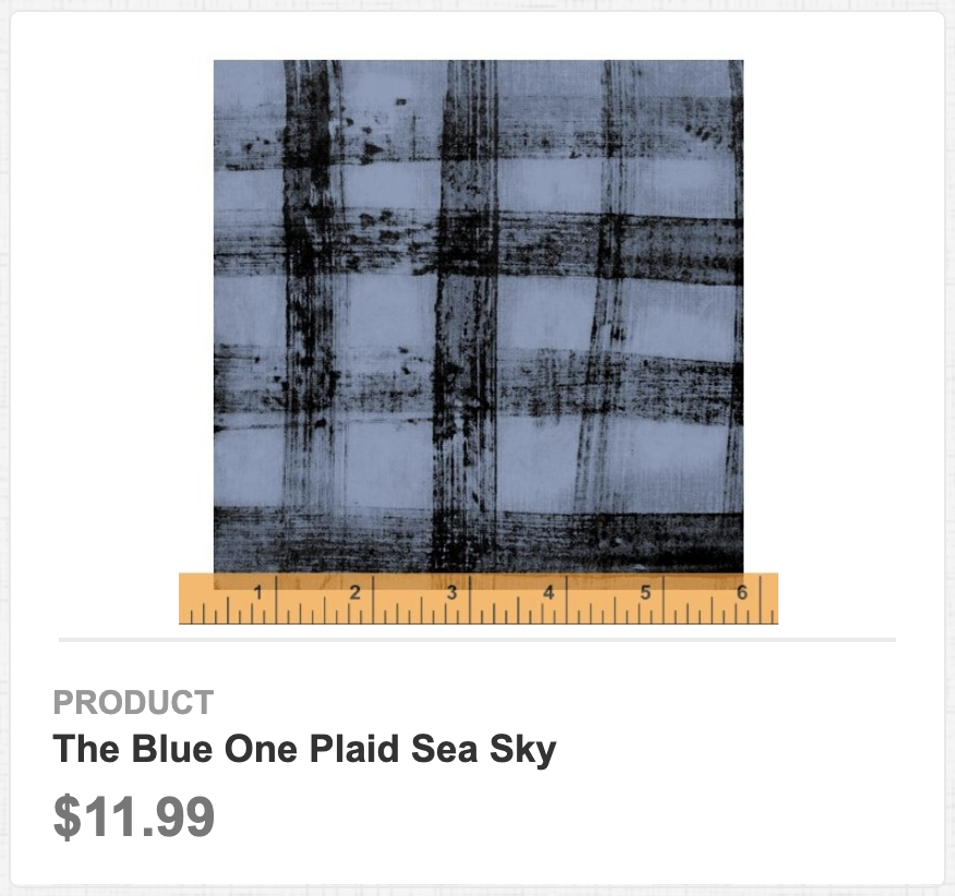The Blue One Plaid Sea Sky
