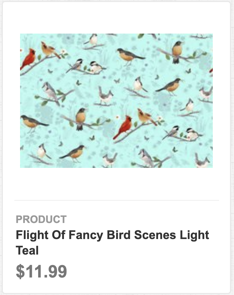 Flight of Fancy Bird Scenes Light Teal