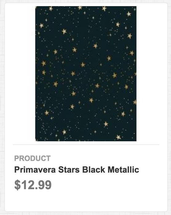 Primavera Stars Black Metallic