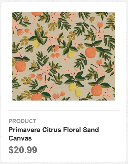 Primavera Citrus Floral Sand Canvas
