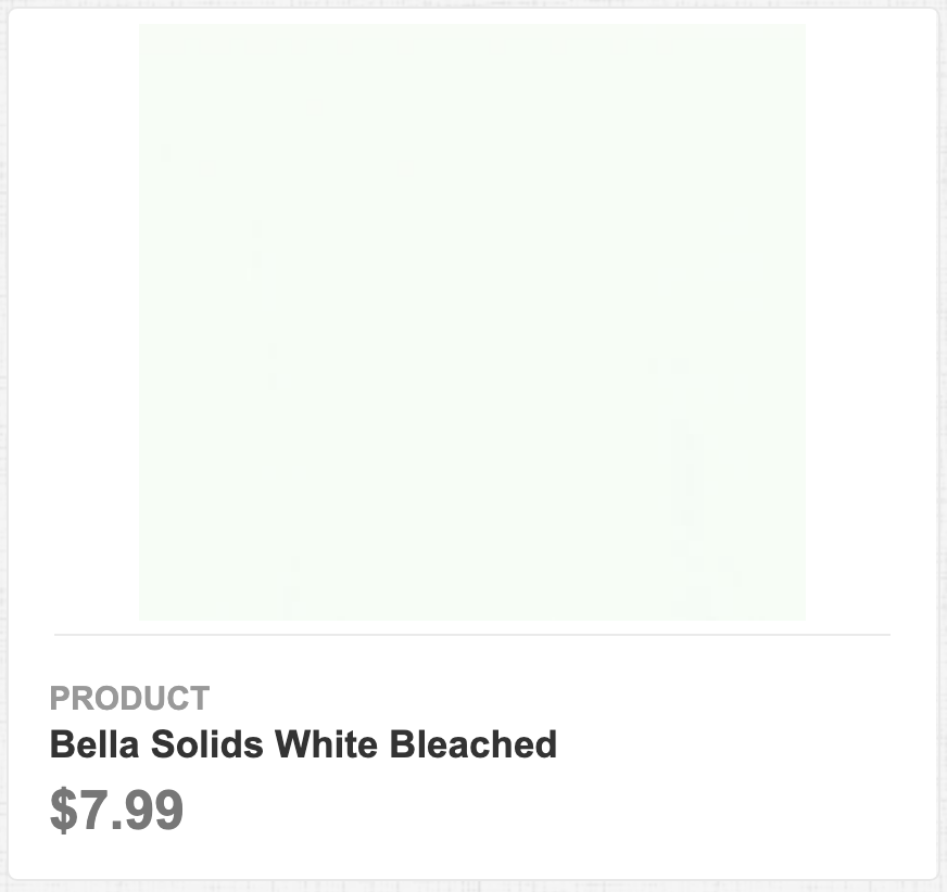 Bella Solids White Bleached