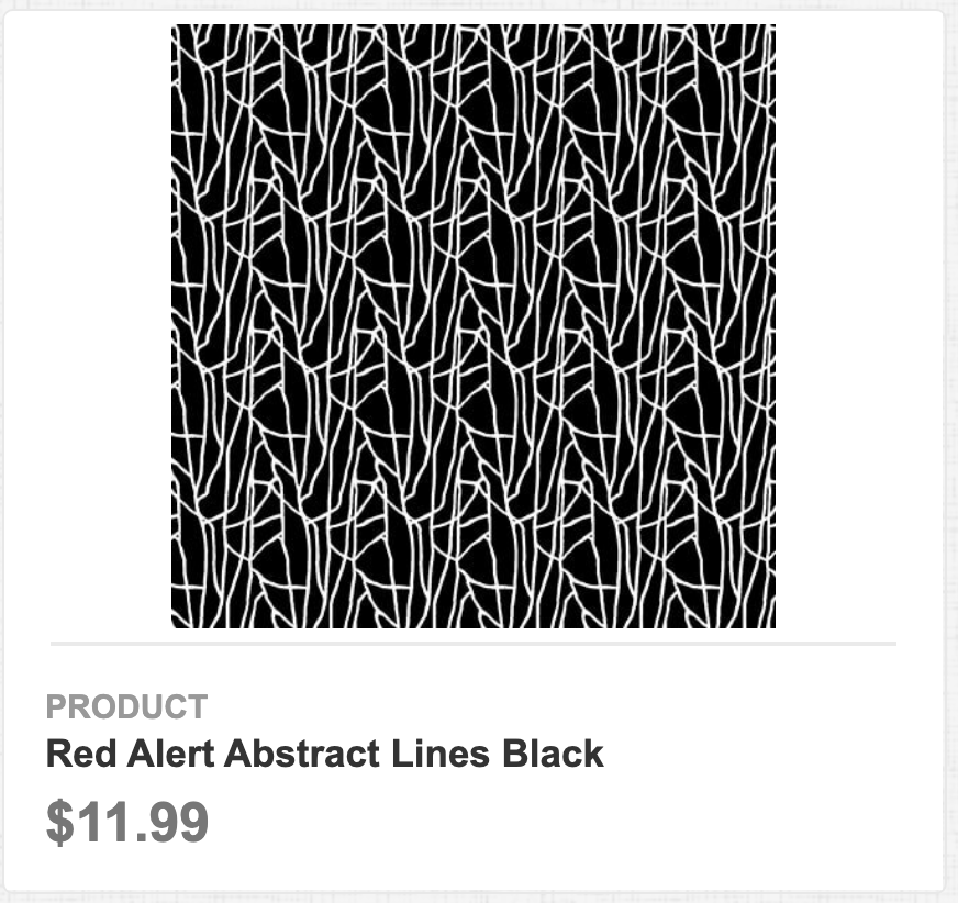 Red Alert Abstract Lines Black