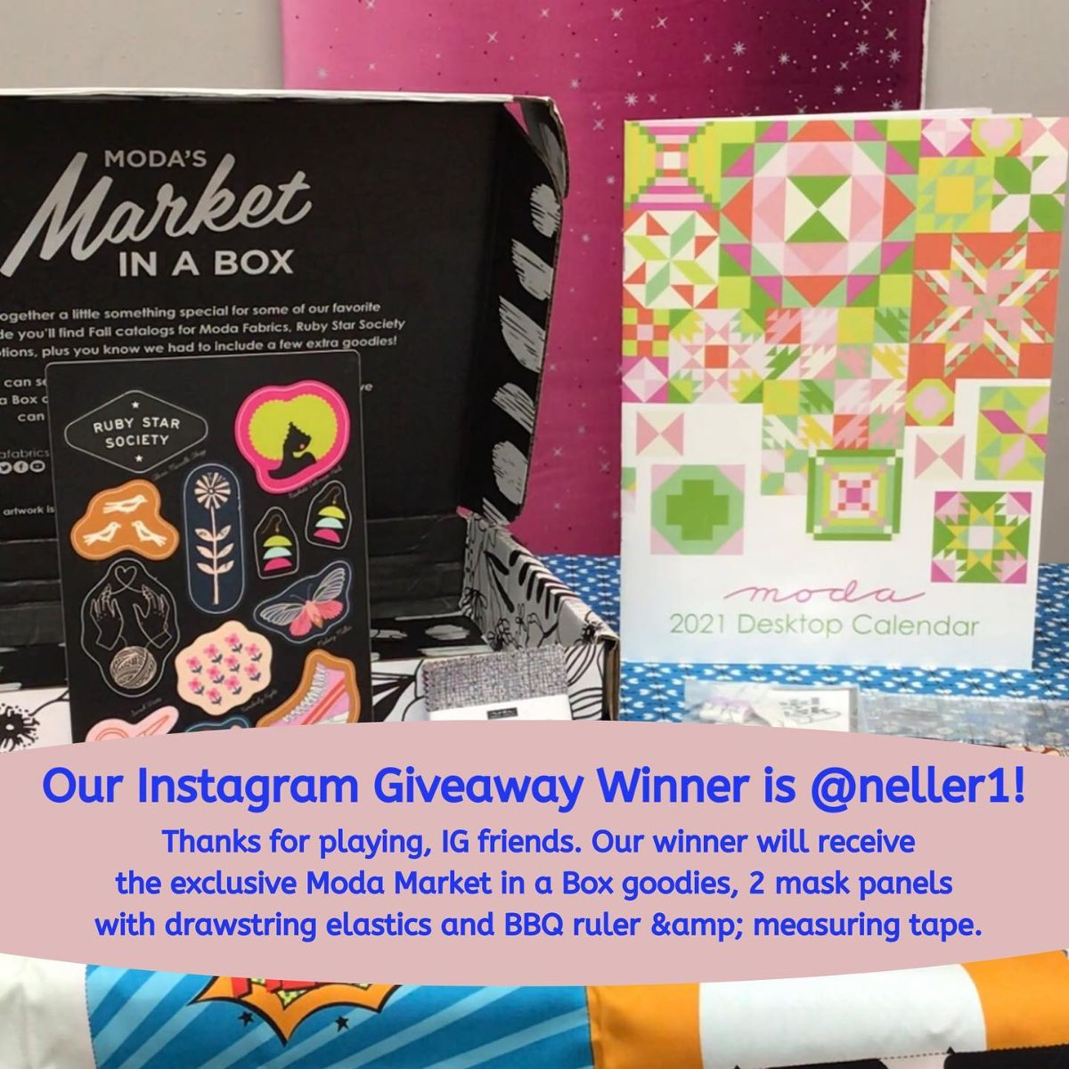 Our BBQuilts Instagram Giveaway Winner is @neller1