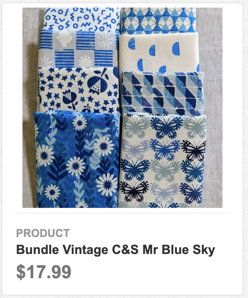 Bundle Vintage C&S Mr Blue Sky