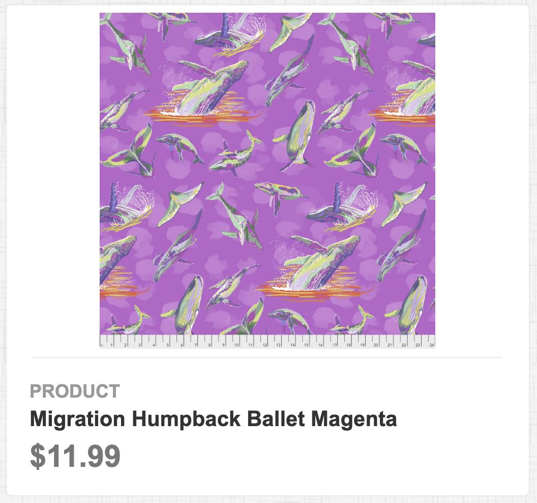 Migration Humpback Ballet Magenta