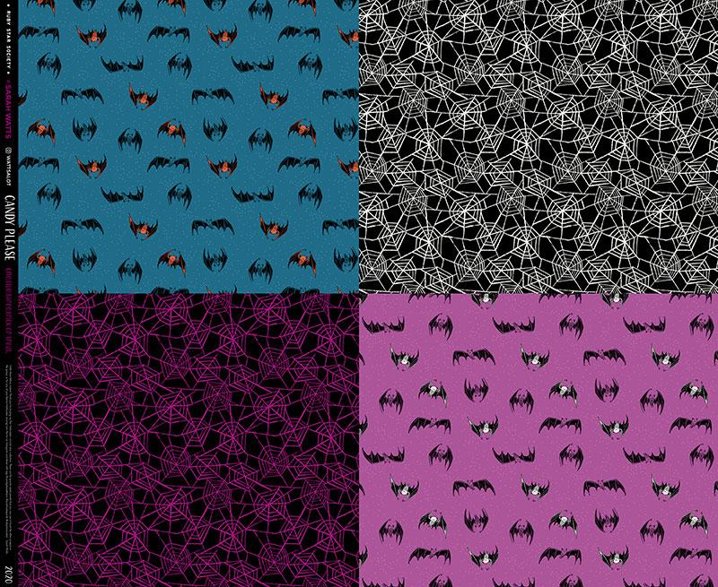 Candy Please Bat Webs Panel Multi