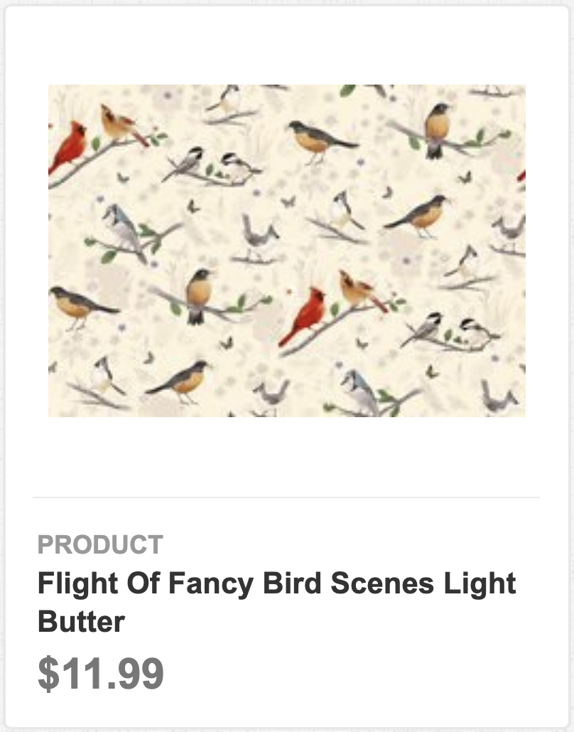 Flight of Fancy Bird Scenes Light Butter