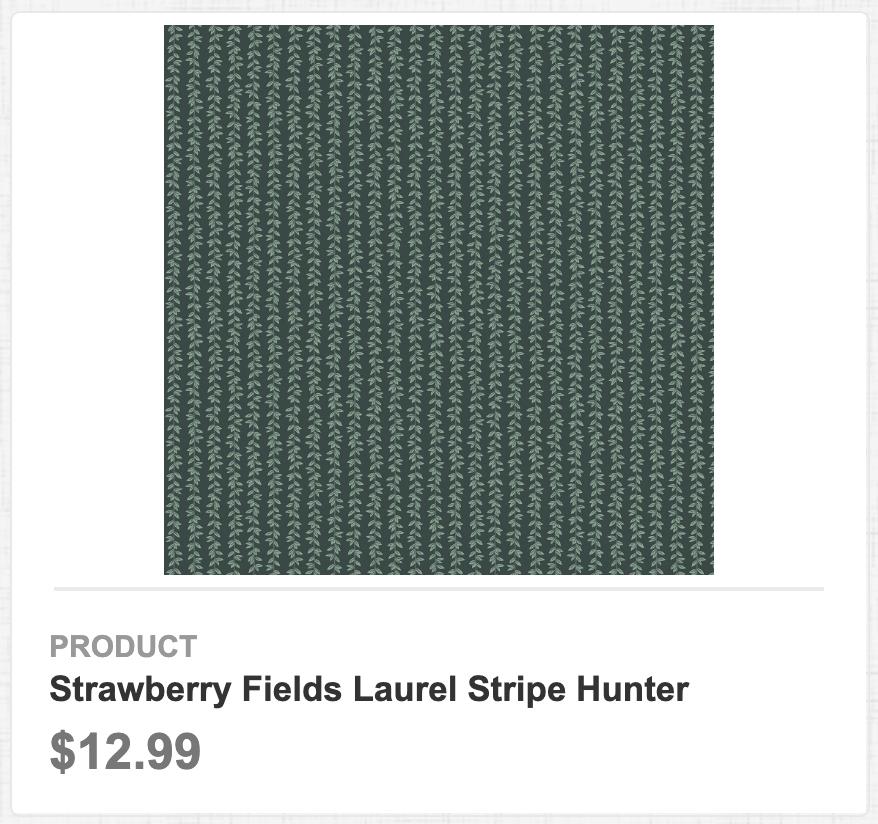 Strawberry Fields Laurel Stripe Hunter