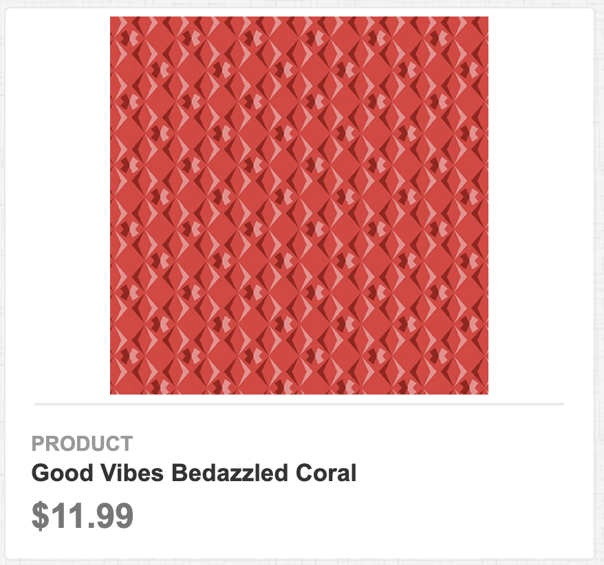 Good Vibes Bedazzled Coral