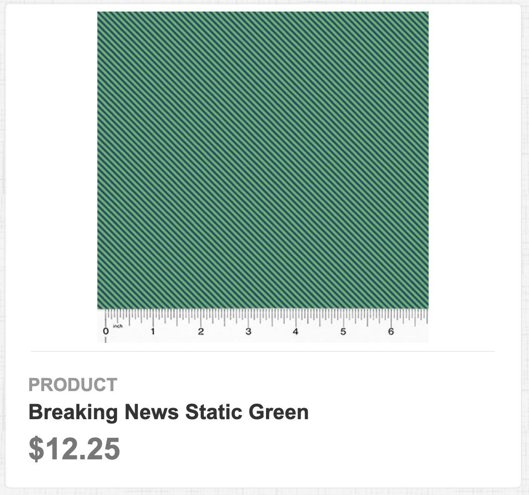 Breaking News Static Green