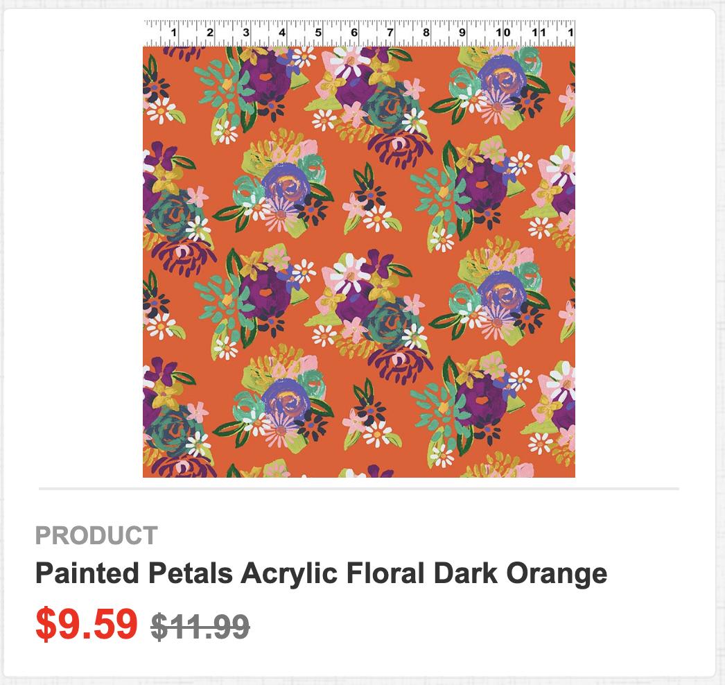 Painted Petals Acrylic Floral Dark Orange