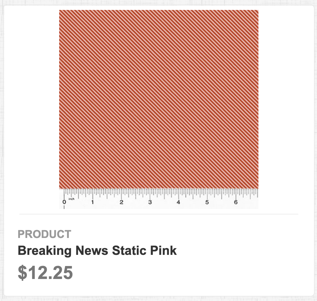 Breaking News Static Pink