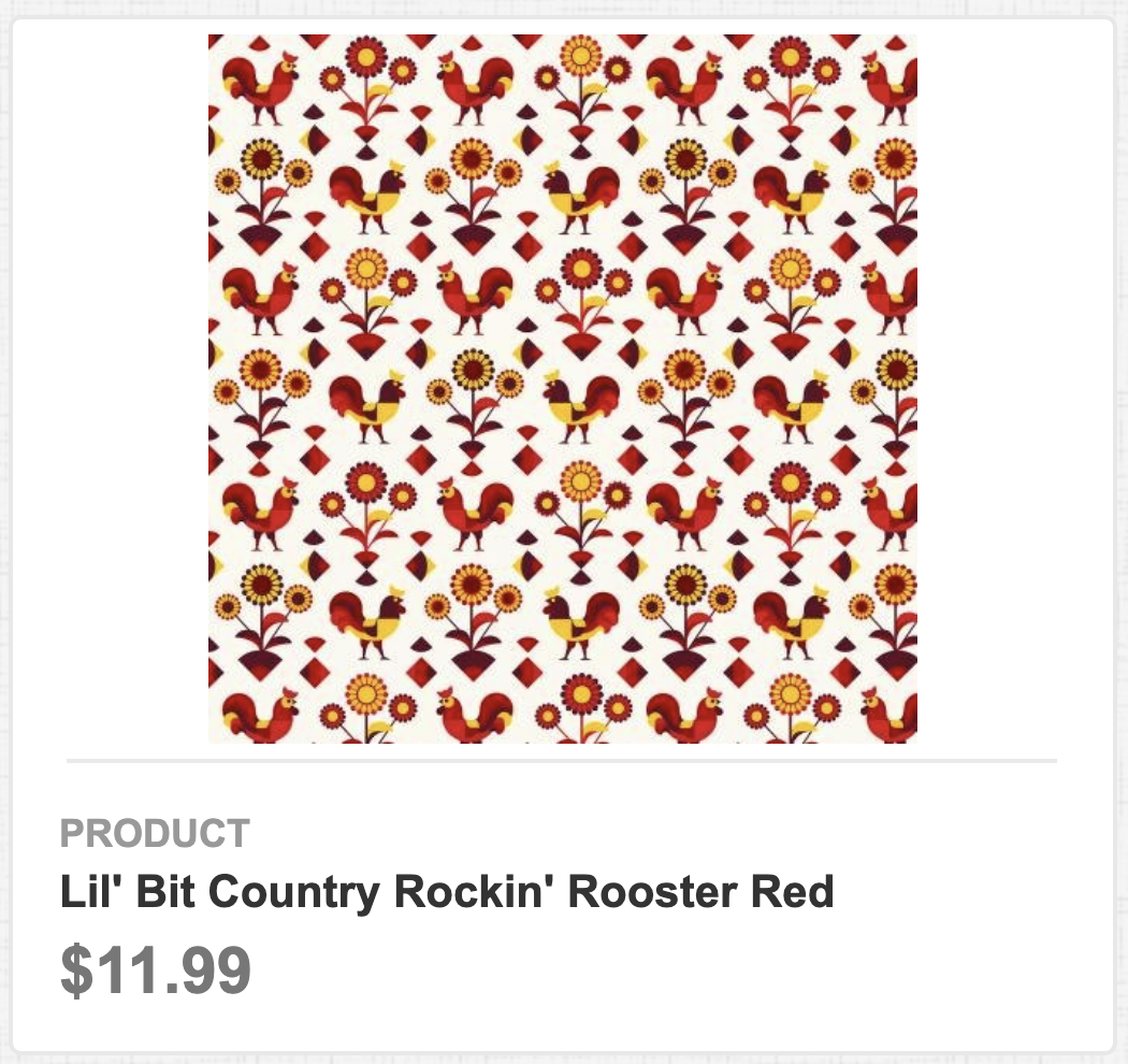 Lil' Bit Country Rockin' Rooster Red