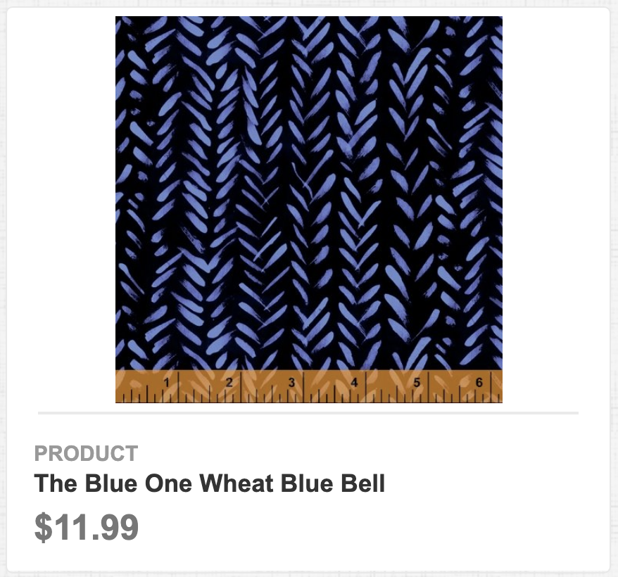 The Blue One Wheat Blue Bell