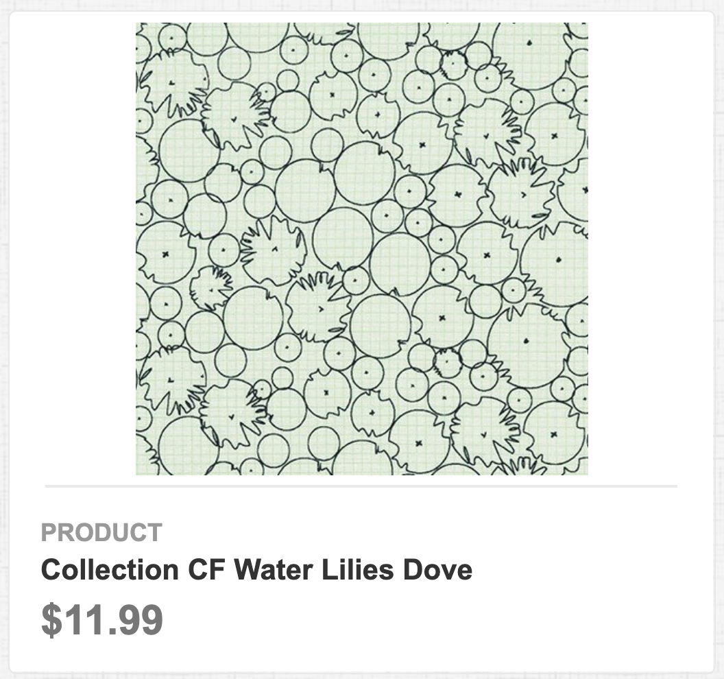 Collection CF Water Lilies Dove
