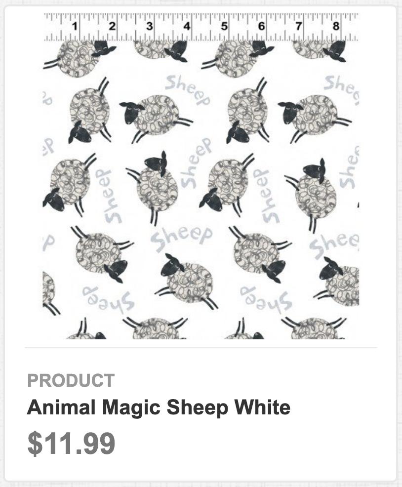 Animal Magic Sheep White