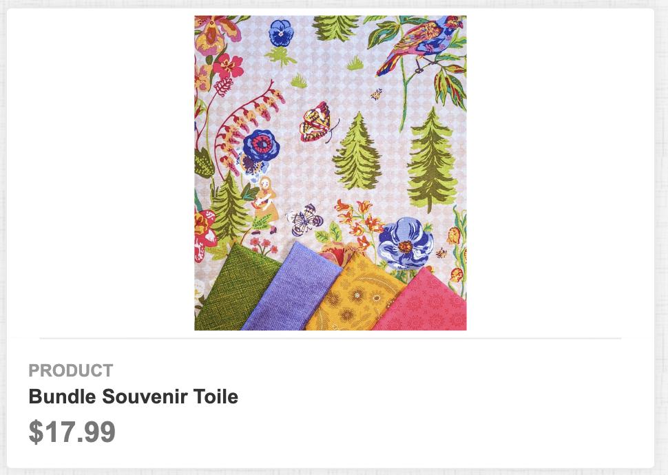 Bundle Souvenir Toile