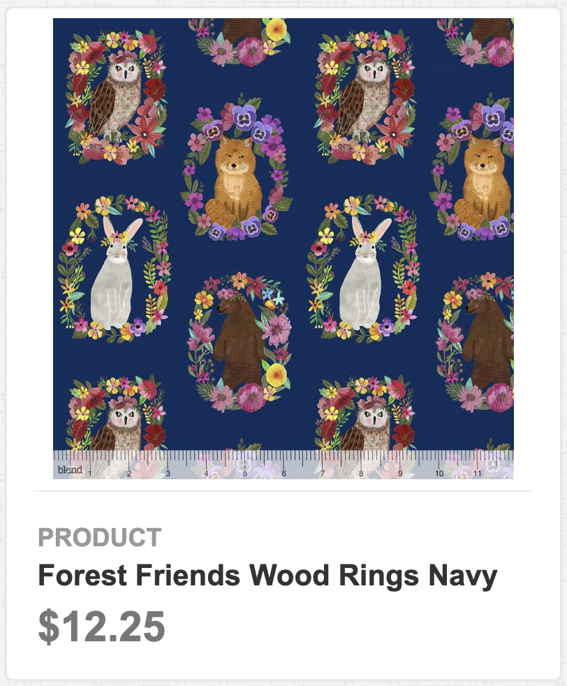 Forest Friends Wood Rings Navy