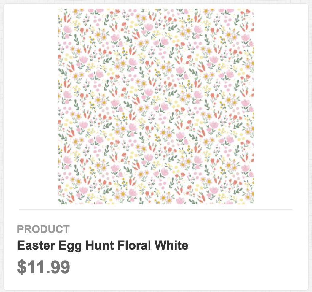 Easter Egg Hunt Floral White