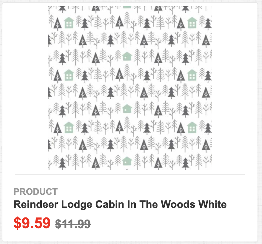 Reindeer Lodge Cabin in the Woods White