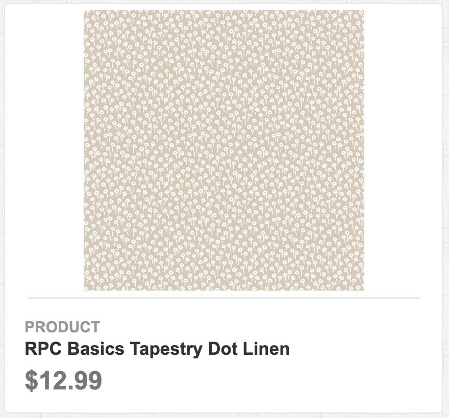 RPC Basics Tapestry Dot Linen