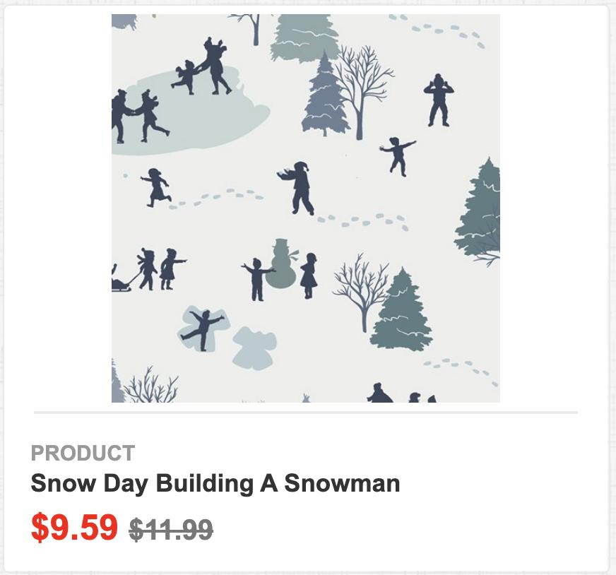 Snow Day Building a Snowman