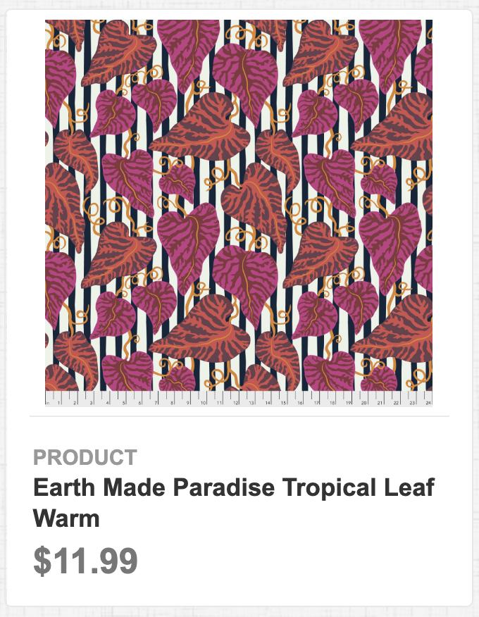 Earth Made Paradise Tropical Leaf Warm