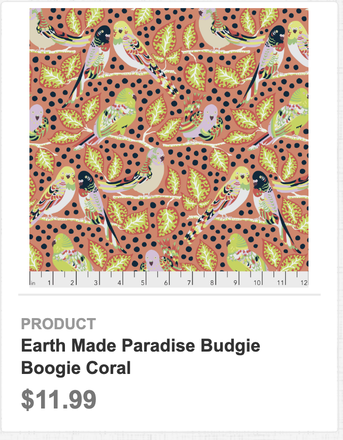 Earth Made Paradise Budgie Boogie Coral