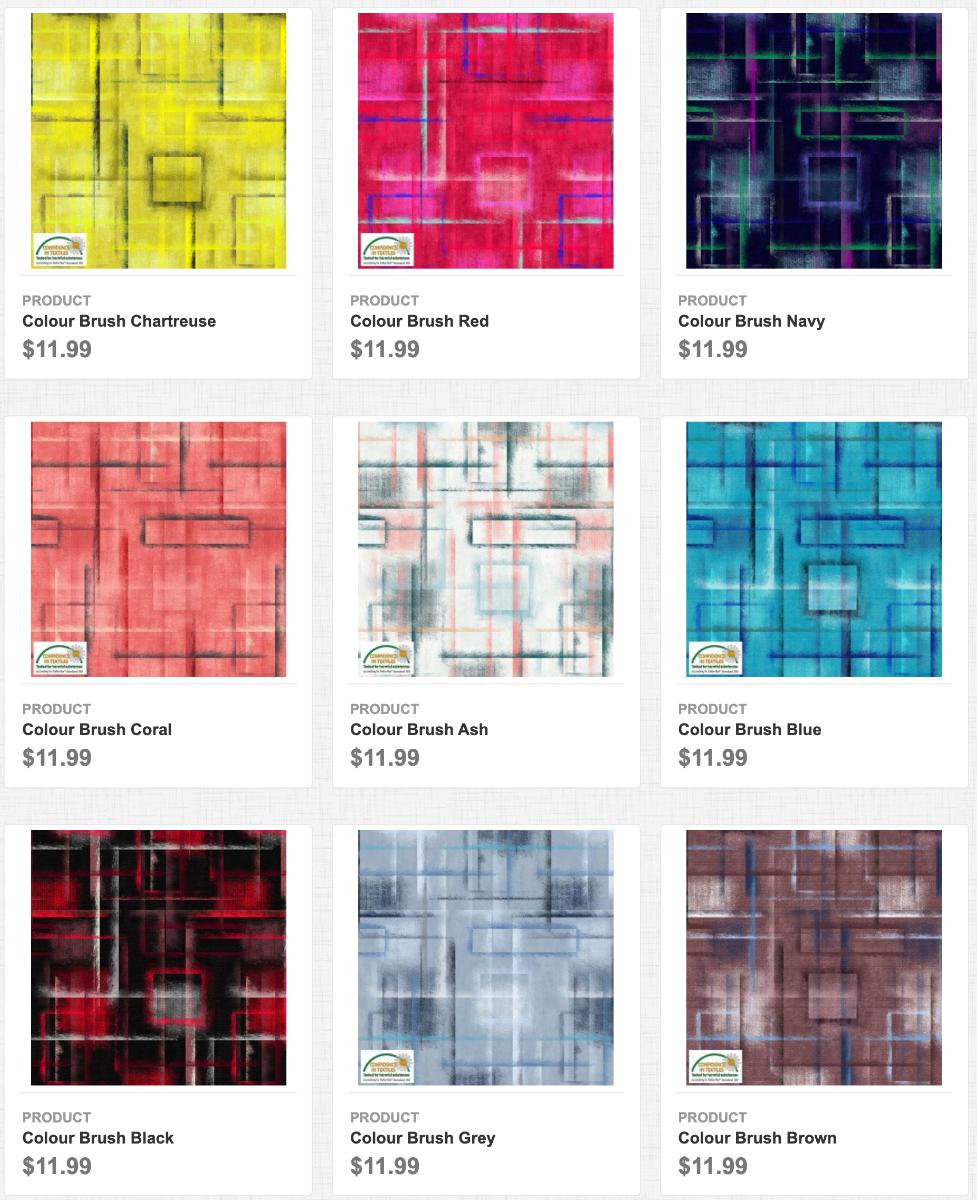 Colour Brush fabrics