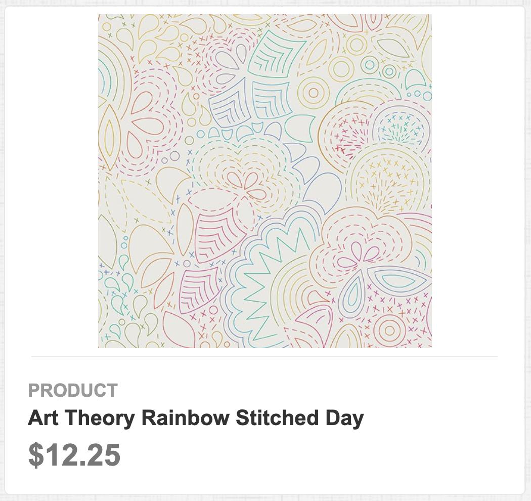 Art Theory Rainbow Stitched Day